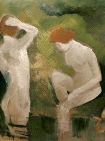 Bild-Nr: 30005088 Macke /Bathers at the green slope /1910 Erstellt von: Macke, August