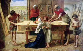 Bild-Nr: 30005884 Millais, Christ in the House of His Par. Erstellt von: Millais, Sir John Everett