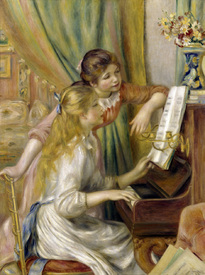 Bild-Nr: 30006918 Renoir / Two girls at the piano / 1892 Erstellt von: Renoir, Pierre-Auguste