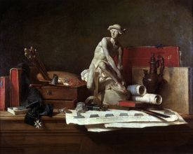 Bild-Nr: 30007455 Chardin / The Attributes of the Arts Erstellt von: Chardin, Jean Siméon