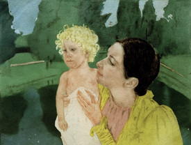 Bild-Nr: 30008751 Cassatt / Woman Playing with a Child Erstellt von: Cassatt, Mary