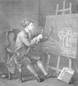 Bild-Nr: 30009192 William Hogarth / Self portrait / 1758 Erstellt von: Hogarth, William