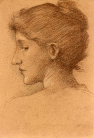 Bild-Nr: 30009224 E.Burne-Jones, Study of a Female Head. Erstellt von: Burne-Jones, Edward