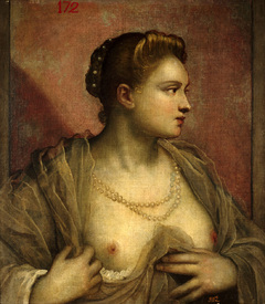 Bild-Nr: 30009405 Tintoretto / Woman with Uncovered Breast Erstellt von: Tintoretto, Jacopo