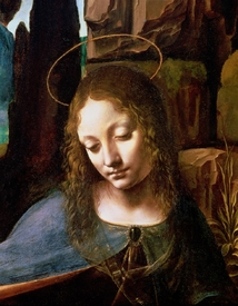 Bild-Nr: 31000018 Detail of the Head of the Virgin, from The Virgin of the Rocks , c.1508 Erstellt von: da Vinci, Leonardo