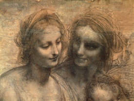 Bild-Nr: 31000020 Detail of the Heads of the Virgin and St. Anne, from The Virgin and Child with S Erstellt von: da Vinci, Leonardo