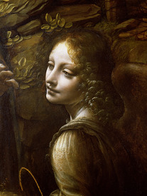 Bild-Nr: 31000030 Detail of the Angel, from The Virgin of the Rocks , c.1508 Erstellt von: da Vinci, Leonardo