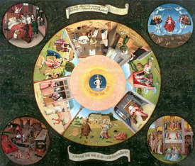Bild-Nr: 31000082 Tabletop of the Seven Deadly Sins and the Four Last Things Erstellt von: Bosch, Hieronymus