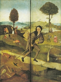 Bild-Nr: 31000085 The Haywain, with panels closed showing Everyman walking the Path of Life Erstellt von: Bosch, Hieronymus