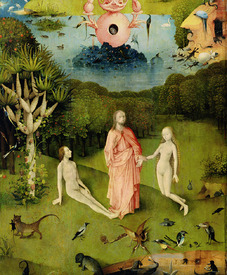 Bild-Nr: 31000087 The Garden of Earthly Delights: The Garden of Eden, left wing of triptych, c.150 Erstellt von: Bosch, Hieronymus