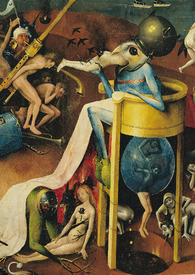 Bild-Nr: 31000088 The Garden of Earthly Delights: Hell, right wing of triptych, detail of blue bir Erstellt von: Bosch, Hieronymus