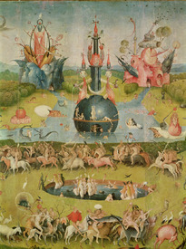 Bild-Nr: 31000090 The Garden of Earthly Delights: Allegory of Luxury, central panel of triptych, c Erstellt von: Bosch, Hieronymus