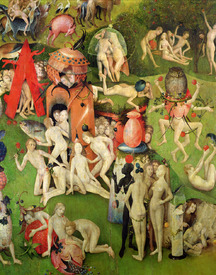 Bild-Nr: 31000092 The Garden of Earthly Delights: Allegory of Luxury, central panel of triptych, c Erstellt von: Bosch, Hieronymus