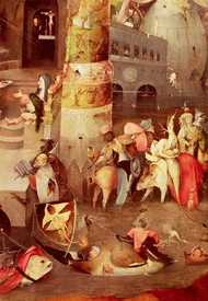 Bild-Nr: 31000096 Triptych of the Temptation of St. Anthony, detail of the lower right hand side Erstellt von: Bosch, Hieronymus