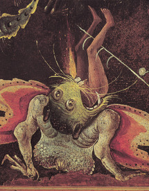 Bild-Nr: 31000097 The Last Judgement, detail of a man being eaten by a monster, c.1504 Erstellt von: Bosch, Hieronymus