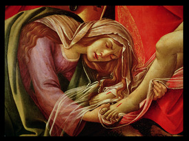 Bild-Nr: 31000106 The Lamentation of Christ, detail of Mary Magdalene and the Feet of Christ, c.14 Erstellt von: Botticelli, Sandro