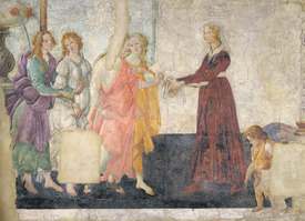 Bild-Nr: 31000116 Venus and the Graces offering gifts to a young girl, 1486 Erstellt von: Botticelli, Sandro