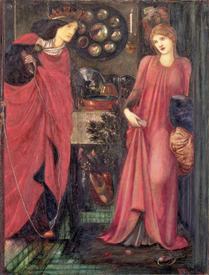 Bild-Nr: 31000144 Fair Rosamund and Queen Eleanor Erstellt von: Burne-Jones, Edward