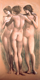 Bild-Nr: 31000150 The Three Graces, c.1885, Erstellt von: Burne-Jones, Edward