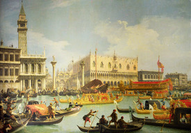 Bild-Nr: 31000165 The Betrothal of the Venetian Doge to the Adriatic Sea, c.1739-30 Erstellt von: Canal, Giovanni Antonio & Bellotto, Bernardo