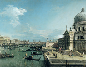 Bild-Nr: 31000167 The Entrance to the Grand Canal and the church of Santa Maria della Salute, Veni Erstellt von: Canal, Giovanni Antonio & Bellotto, Bernardo