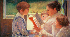 Bild-Nr: 31000179 Mrs Cassatt Reading to her Grandchildren, 1888 Erstellt von: Cassatt, Mary