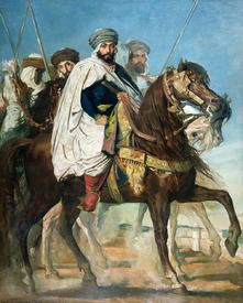 Bild-Nr: 31000193 Ali Ben Ahmed, the Last Caliph of Constantine, with his Entourage outside Consta Erstellt von: Chasseriau, Theodore
