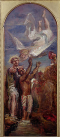 Bild-Nr: 31000209 Study for St. Philip Baptising the Eunuch of the Queen of Ethiopia Erstellt von: Chasseriau, Theodore