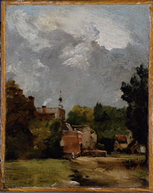 Bild-Nr: 31000226 East Bergholt Church from Church Street Erstellt von: Constable, John