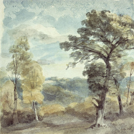 Bild-Nr: 31000232 Landscape with Trees and a Distant Mansion Erstellt von: Constable, John