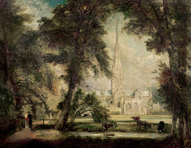 Bild-Nr: 31000240 Salisbury Cathedral from the Bishop's Grounds, c.1822-23 Erstellt von: Constable, John