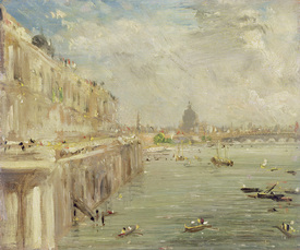 Bild-Nr: 31000242 View of Somerset House Terrace and St. Paul's, from the North end of Waterloo Br Erstellt von: Constable, John