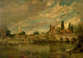 Bild-Nr: 31000249 The Bridge of Harnham and Salisbury Cathedral, c.1820 Erstellt von: Constable, John