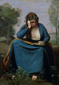 Bild-Nr: 31000265 The Reader Crowned with Flowers, or Virgil's Muse, 1845 Erstellt von: Corot, Jean Baptiste Camille