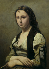 Bild-Nr: 31000268 The Woman with the Pearl, c.1842 Erstellt von: Corot, Jean Baptiste Camille