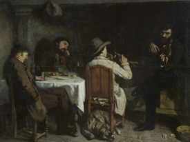 Bild-Nr: 31000289 After Dinner at Ornans, 1848 Erstellt von: Courbet, Gustave