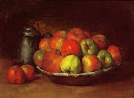 Bild-Nr: 31000298 Still Life with Apples and a Pomegranate, 1871-72 Erstellt von: Courbet, Gustave