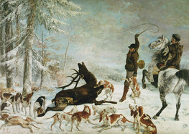 Bild-Nr: 31000299 The Death of the Deer, 1867 Erstellt von: Courbet, Gustave