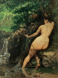 Bild-Nr: 31000300 The Source or Bather at the Source, 1868 Erstellt von: Courbet, Gustave