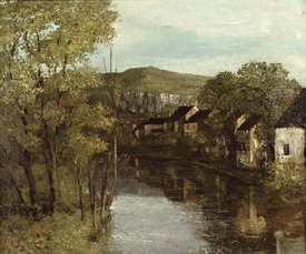 Bild-Nr: 31000316 The Reflection of Ornans, c.1872 Erstellt von: Courbet, Gustave