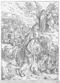 Bild-Nr: 31000375 Scene from the Apocalypse, The angel holding the keys of the abyss and a big cha Erstellt von: Dürer, Albrecht