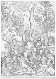 Bild-Nr: 31000377 Christ mourned by the Virgin and the female Saints, from 'The Great Passion' ser Erstellt von: Dürer, Albrecht