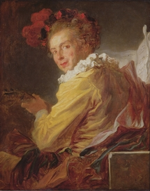 Bild-Nr: 31000410 Music, a portrait of Monsieur de la Breteche, brother of the Abbot of Saint-Non, Erstellt von: Fragonard, Jean-Honoré