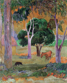 Bild-Nr: 31000467 Dominican Landscape or, Landscape with a Pig and Horse, 1903 Erstellt von: Gauguin, Paul