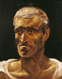 Bild-Nr: 31000495 Head of a Shipwrecked Man, study for the Raft of Medusa, 1817-19 Erstellt von: Géricault, Théodore