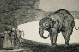 Bild-Nr: 31000520 Folly of Beasts, from the Follies series, or Other Laws for the People, c.1815-2 Erstellt von: Goya, Francisco de