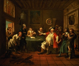 Bild-Nr: 31000643 Falstaff Examining his Recruits from Henry IV by Shakespeare, 1730 Erstellt von: Hogarth, William