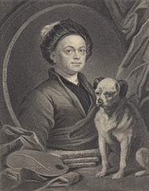 Bild-Nr: 31000656 Self Portrait, engraved by J. Mollison Erstellt von: Hogarth, William