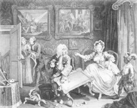 Bild-Nr: 31000663 A Harlot's Progress, plate II, Quarrels with her Jew Protector Erstellt von: Hogarth, William