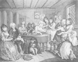 Bild-Nr: 31000665 A Harlot's Progress, plate VI, The Funeral Erstellt von: Hogarth, William